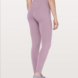 lululemon athletica Pants - Dusty Mauve Lululemon Aligns 28 inch size 10